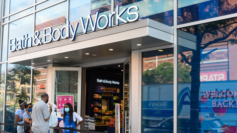 The exterior of a Bath & Body Works store