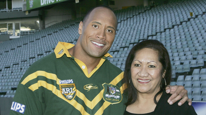 Dwayne Johnson and mother