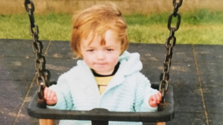 Maisie Williams as a baby