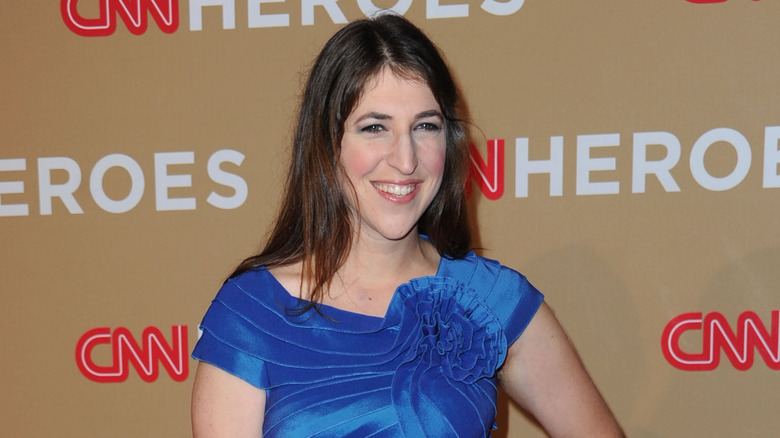 Mayim Bialik on the red carpet in 2010