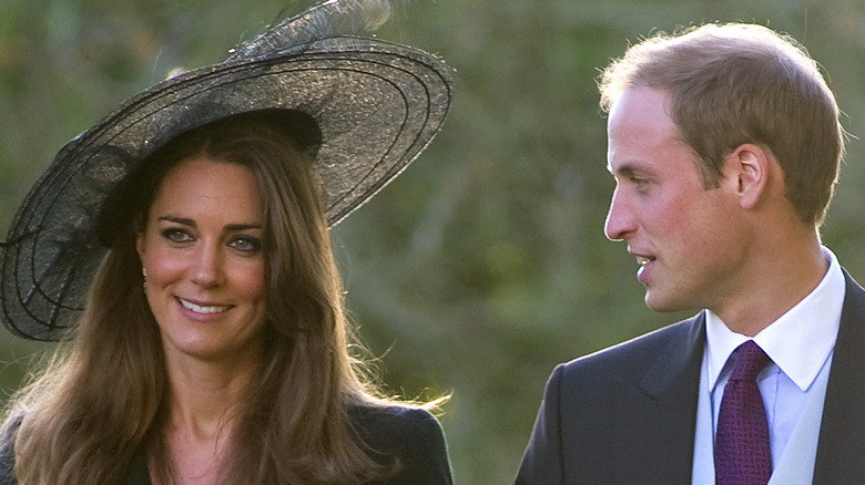 Kate Middleton and Prince William walking in 2010