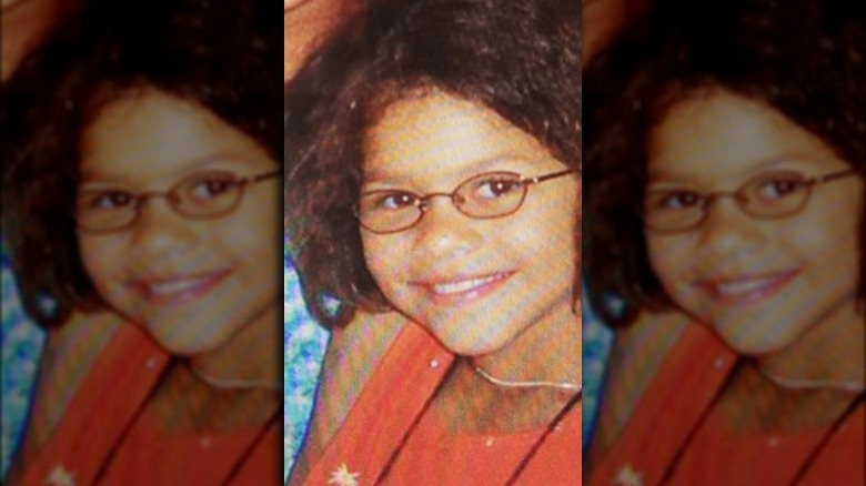 Zendaya as a kid with glasses