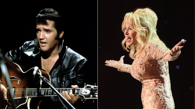Dolly Parton and Elvis Presley