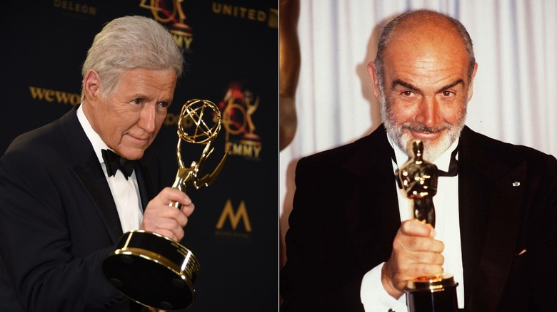 Alex Trebek and Sean Connery