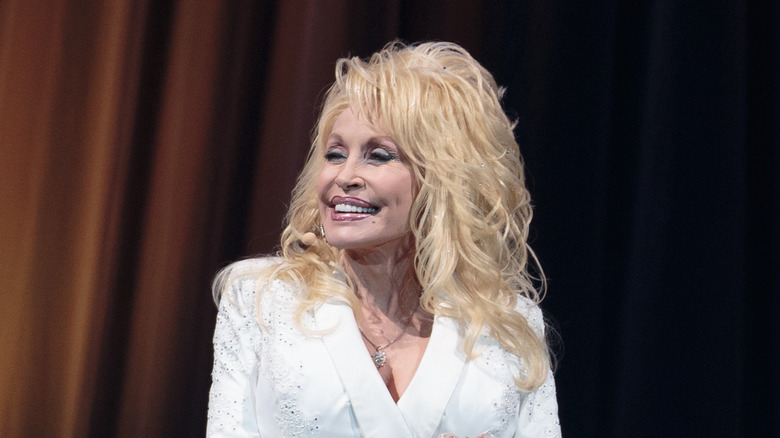 Dolly Parton smiling