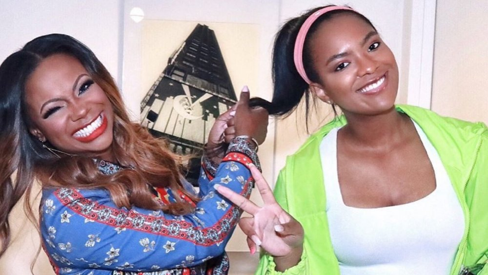 Kandi Burruss and her daughter, Riley