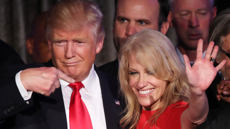 Kellyanne Conway and Donald Trump