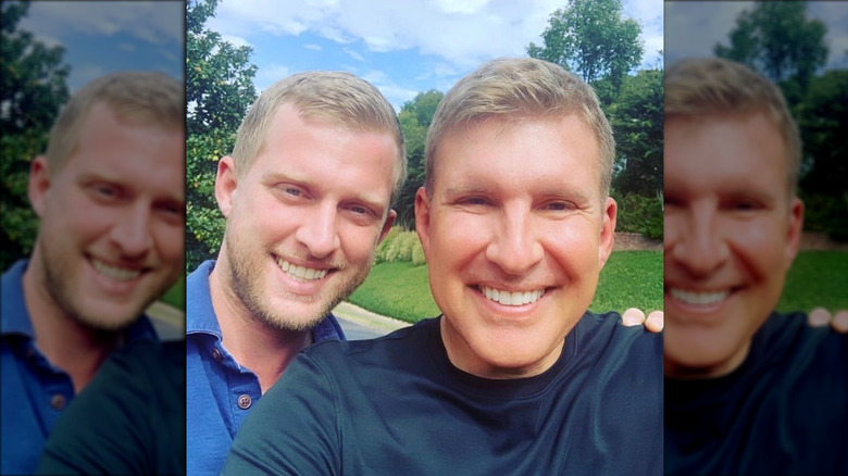 Kyle Chrisley with his father, Todd