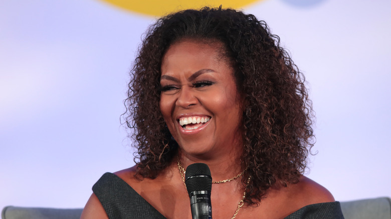 Michelle Obama laughing