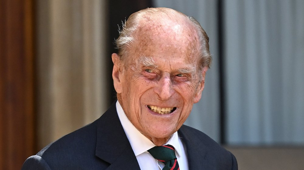 Prince Philip smiling, up-close