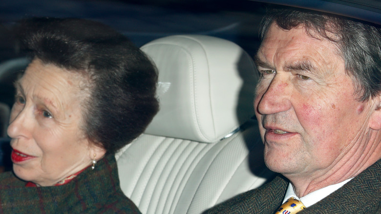 Princess Anne, Vice Admiral Sir Timothy Laurence in a car