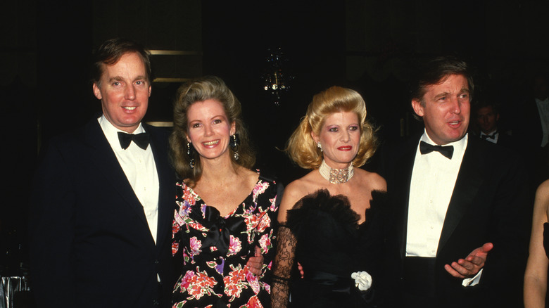 Robert and Blaine Trump with Donald and Ivana Trump
