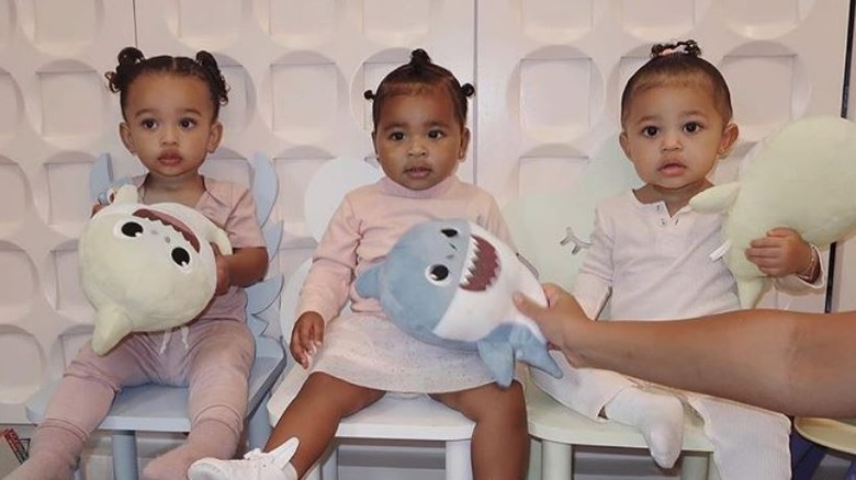 True Thompson, Stormi Webster, and Chicago West