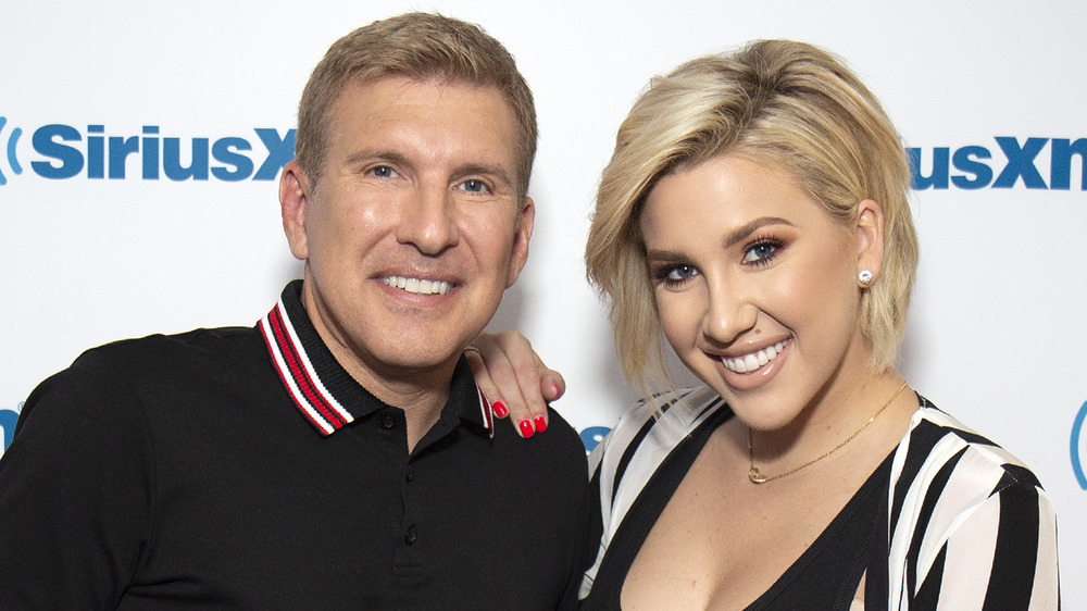 Todd and Savannah Chrisley at a Sirius XM event