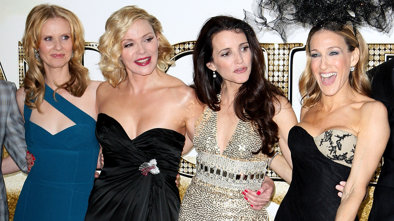 The cast of Sex and the City poses together