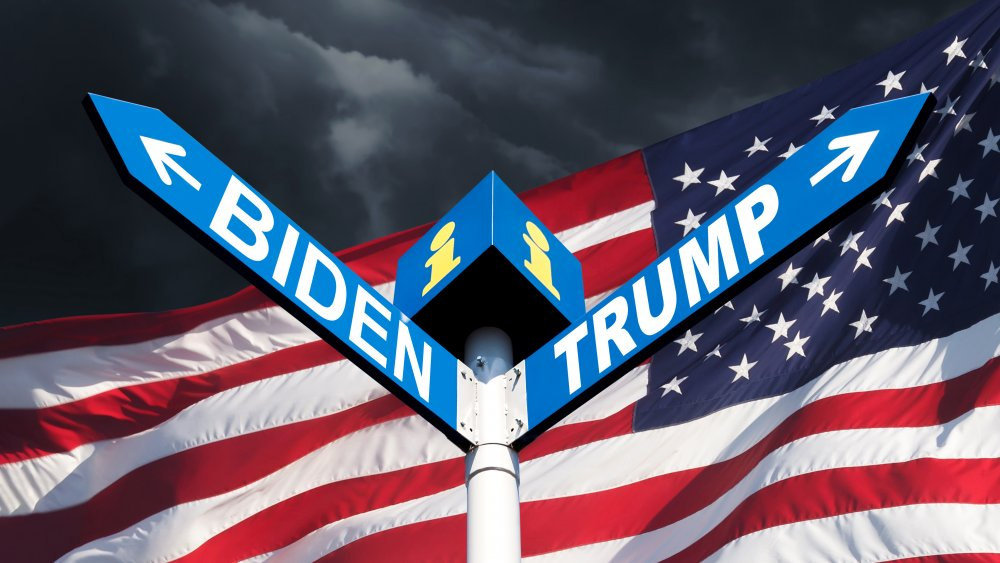Trump and Biden signs lead in different directions