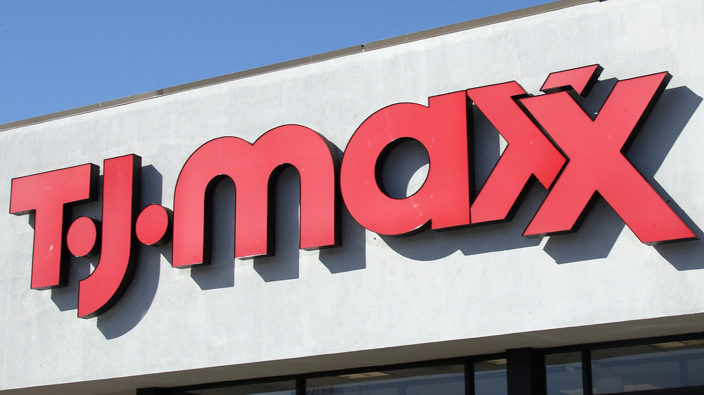 TJ Maxx storefront sign
