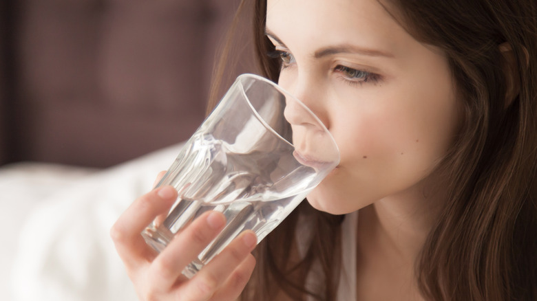 This is when you should have your last glass of water of the day