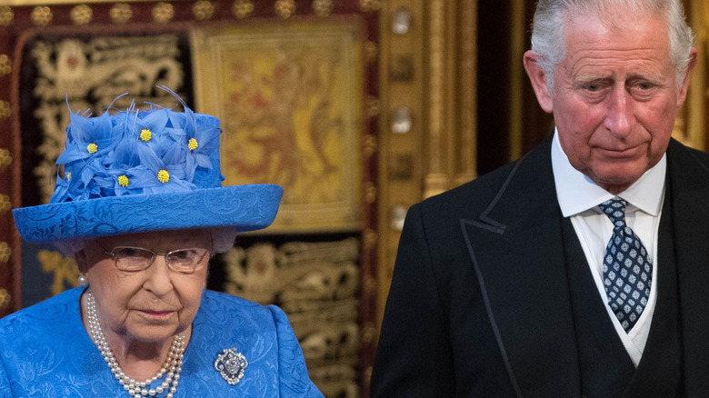 Prince Charles and Queen Elizabeth at event