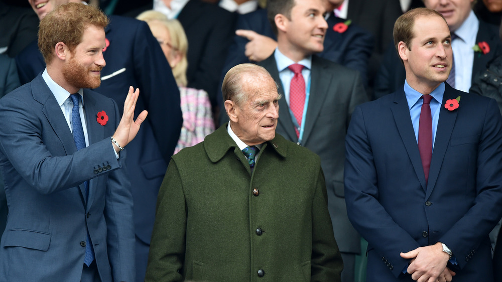 Harry, William, and their grandfather