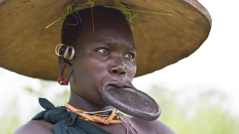 Lip Stretching In Parts Of Africa And South America Are Considered Attractive To Men