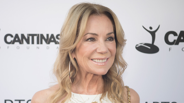Kathie Lee Gifford looking to the side