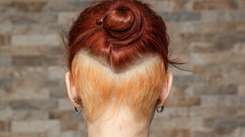 Woman with an undercut