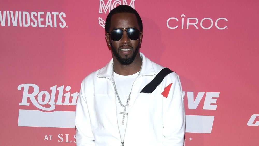 P Diddy posing at event