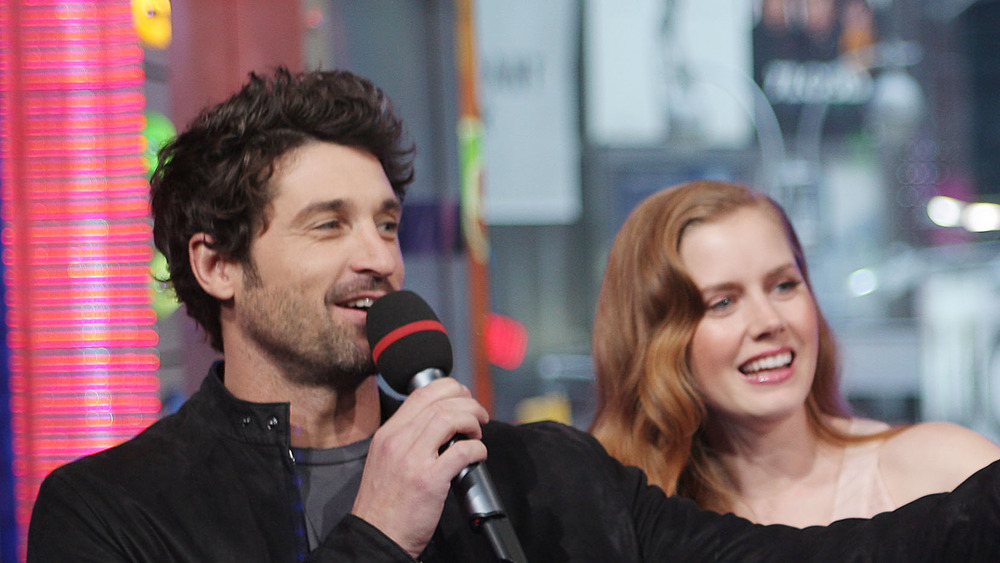 Patrick Dempsey and Amy Adams smiling
