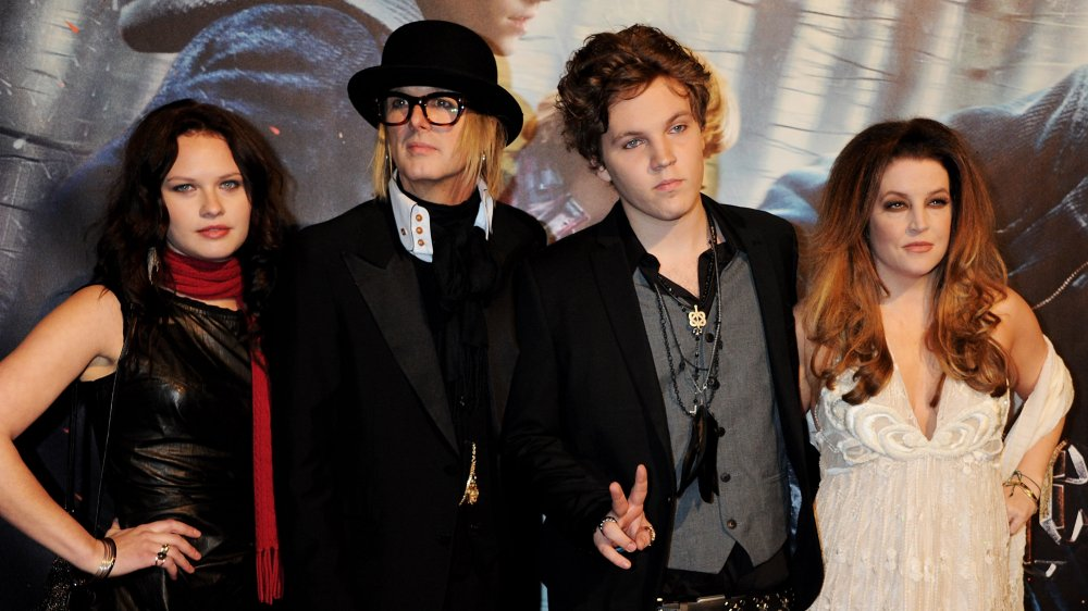 Lisa Marie Presley with Michael Lockwood, Riley and Ben Keough