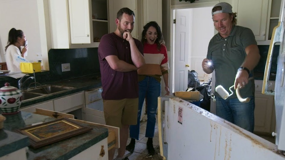 A renovation scene from Fixer Upper