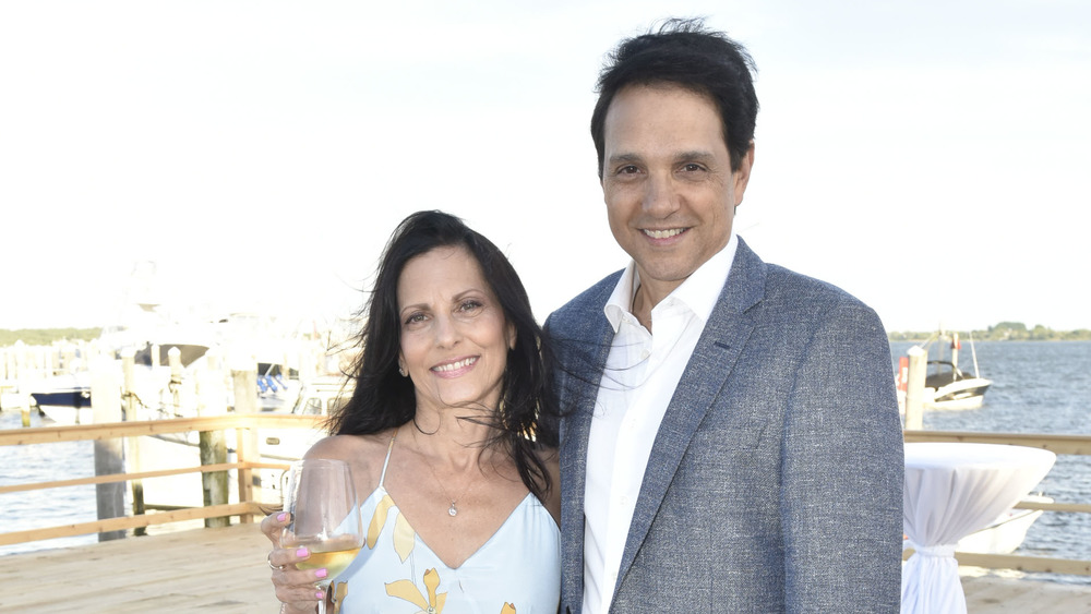 Ralph and Phyllis Macchio on a dock