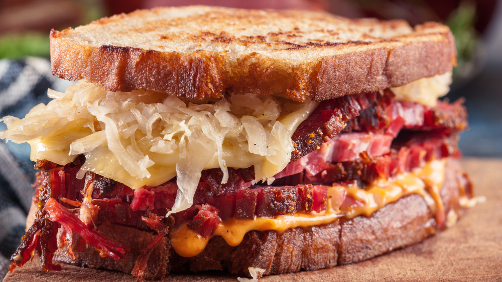 Juicy reuben sandwich