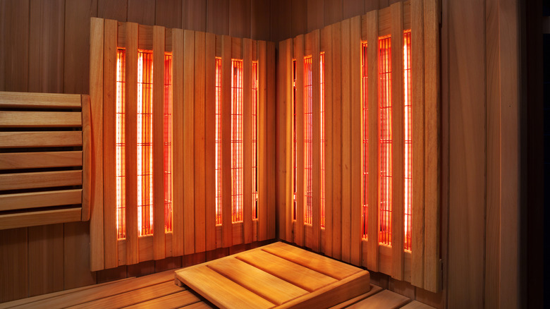 A picture of an infrared sauna room