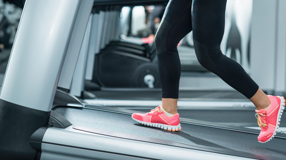 Walking on an inclined treadmill