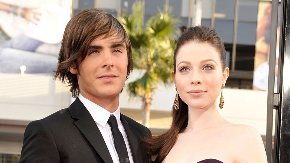 Michelle Trachtenberg and Zac Efron at the 17 Again premiere