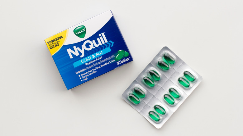 NyQuil capsules in package