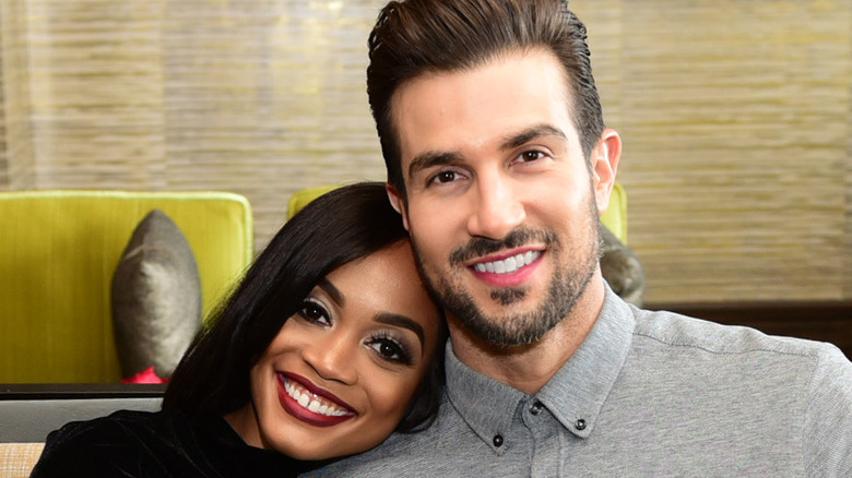 Rachel Lindsay and Bryan Abasolo smiling