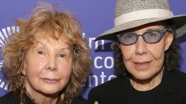 Lily Tomlin and Jane Wagner on red carpet