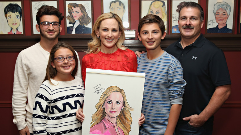 Marlee Matlin posing with family
