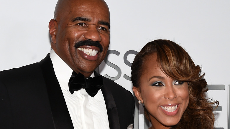 Steve and Marjorie Harvey at event