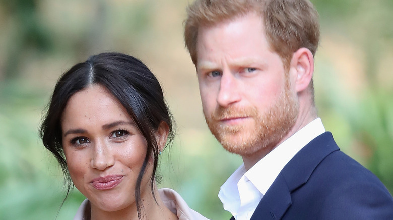 Prince Harry and Meghan Markle close up