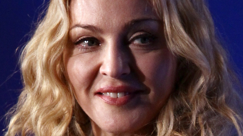 Madonna smiles at an event