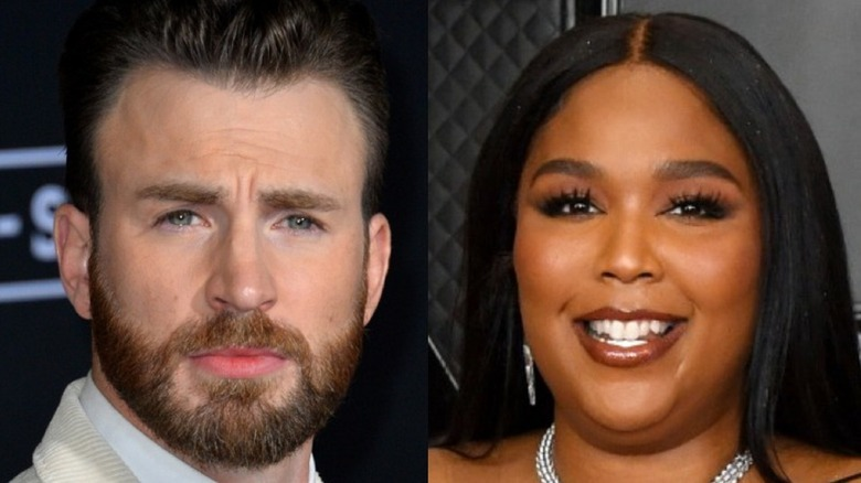 Chris Evans and Lizzo composite