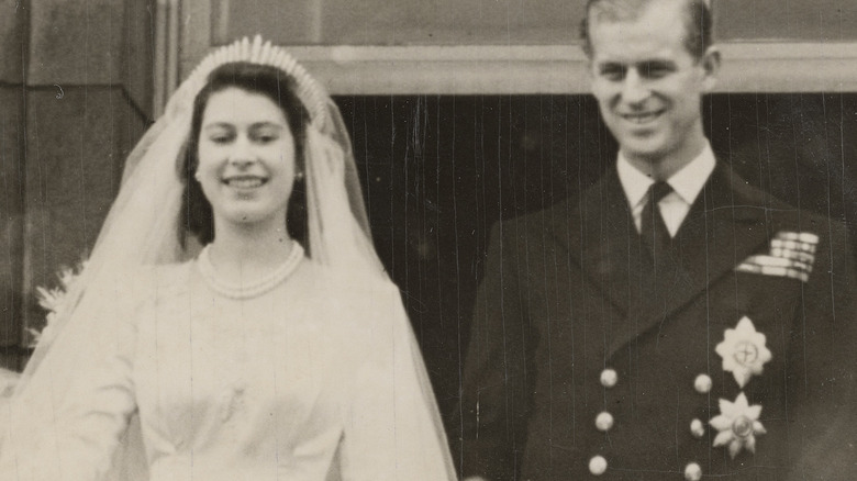 Queen Elizabeth and Prince Philip wedding in 1947