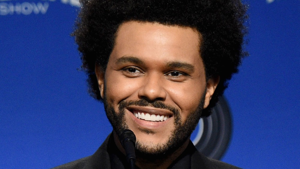 The Weeknd with facial hair