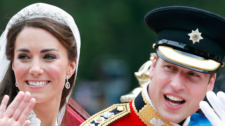 Prince William and Kate Middleton wedding day