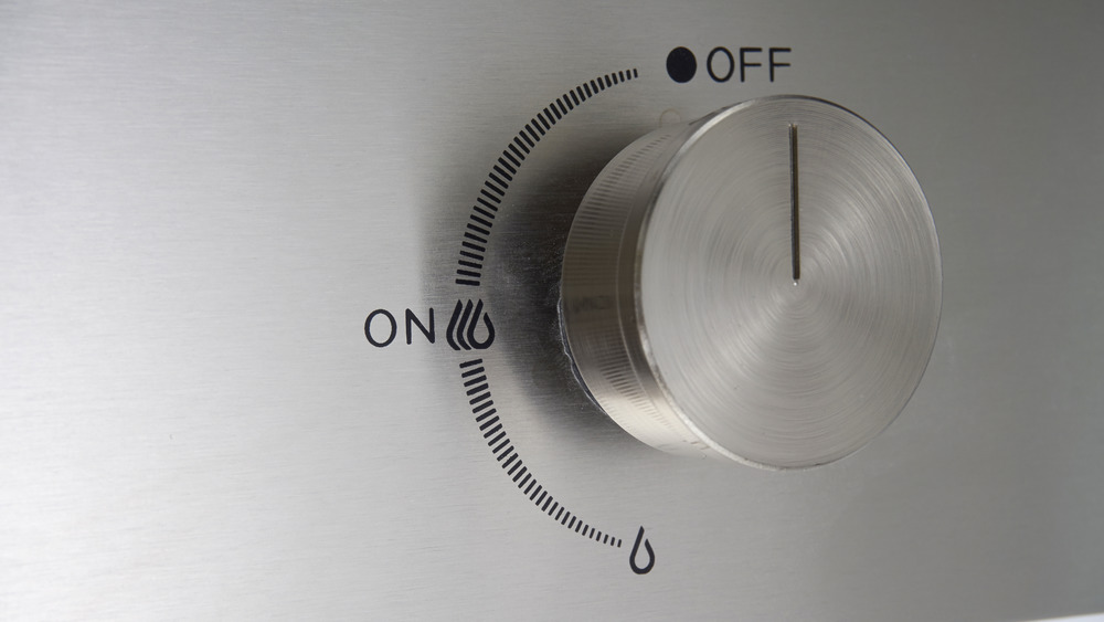On/Off knob in off position